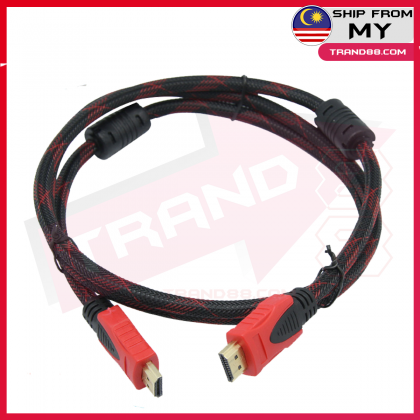 1.5M/2M/3M/5M High Speed Video HDMI Cable Full HD1080p Gold 24K Plated