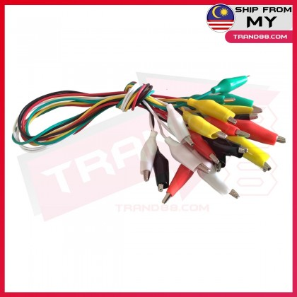 10 pcs Colourful Double Headed Crocodile Clip/Medium Alligator Clips/Battery Clips With Wire