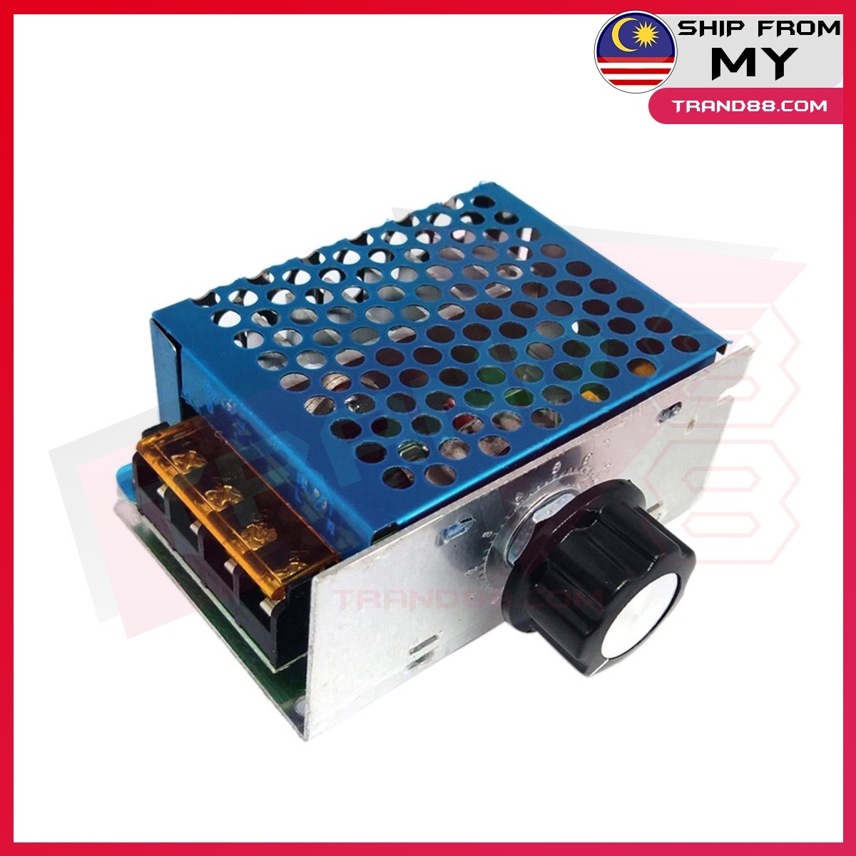 AC 220V 4000W SCR Voltage Regulator Dimming Dimmers Motor Speed Controller Thermostat Electronic Voltage Regulator Module