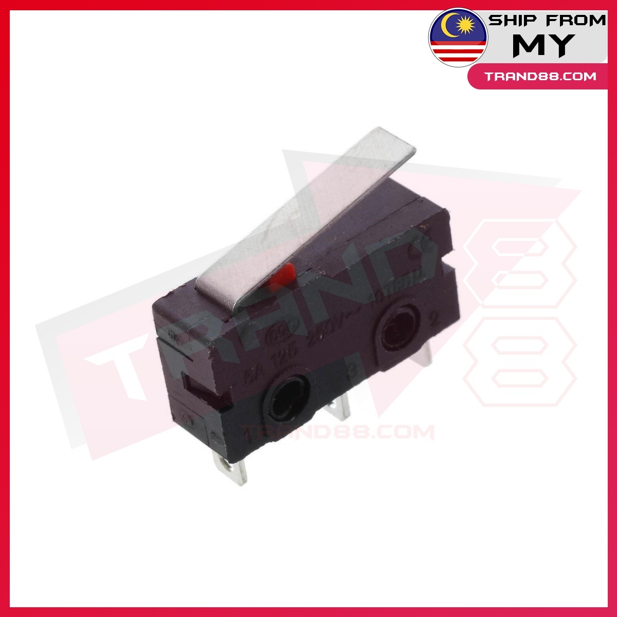 Micro Switch Lever Roller Arm Actuator SPDT KW11-3Z-2 3Pin 5A 125 250VAC Contact Switch